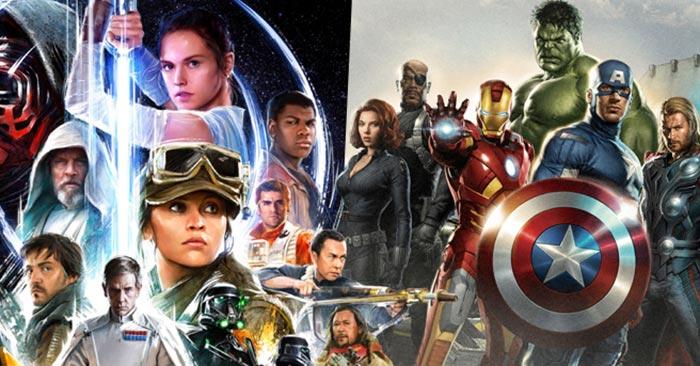 Disney Qué franquicia le da más éxito, Marvel o Star Wars