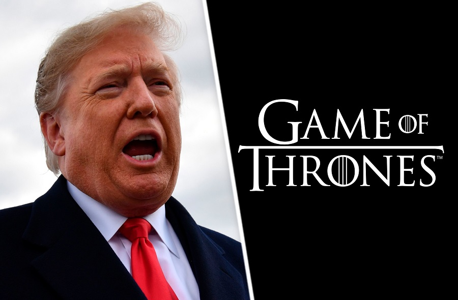 01 Donald Trump usa a Game of Thrones para anunciar su muro