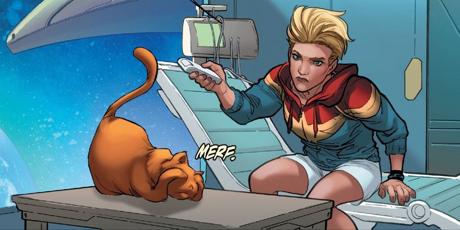 02 La mascota de Captain Marvel sería fundamental para derrotar a Thanos
