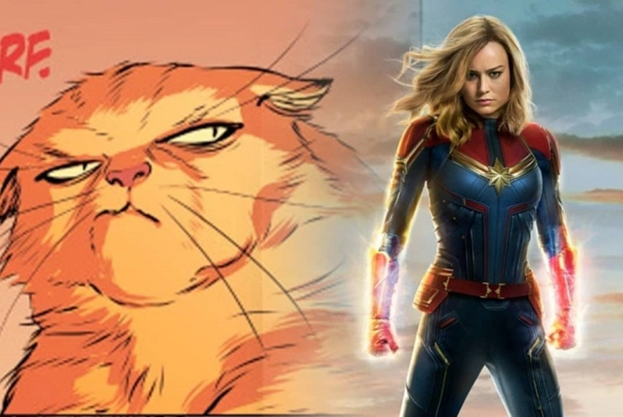 04 La mascota de Captain Marvel sería fundamental para derrotar a Thanos