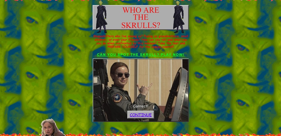 02 web de capitana marvel inspirada en los 90