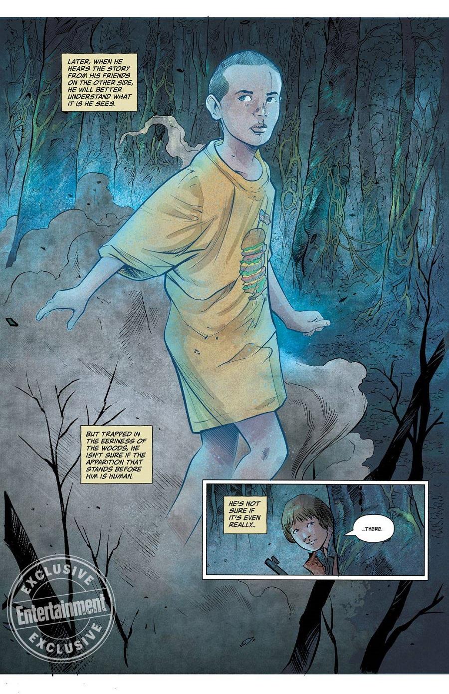 03 stranger things se muestra otro sujeto antes de eleven en el comic
