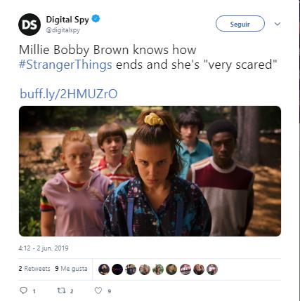 """Millie Bobby Brown sintió miedo al conocer el final de """"Stranger Things"""""""