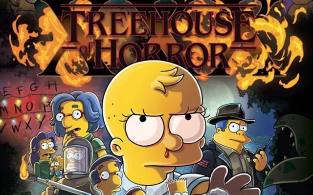 Los Simpson parodian a Stranger Things en póster de Halloween