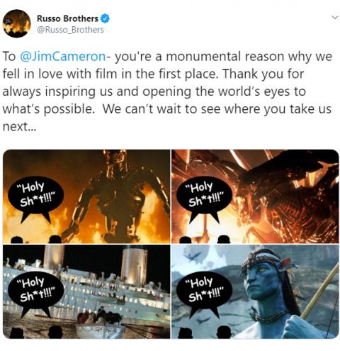"""James Cameron felicita en lengua """"Avatar"""" a Marvel por superar récord"""