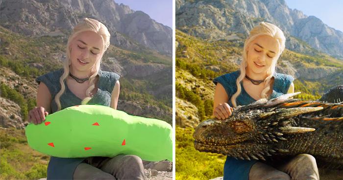 24 personaje en escena antes y después de los efectos especiales