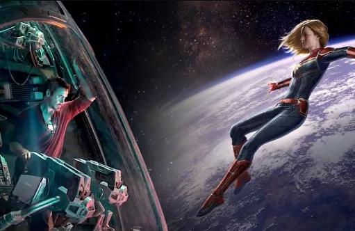 Así encontró la Capitana Marvel a Tony Stark en Avengers: Endgame