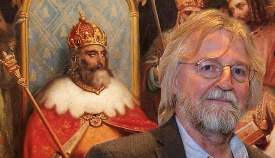 Alex Högh Andersen de Vikings usa disfraz de La Casa de Papel